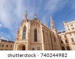 lednice castle in south moravia ... | Shutterstock . vector #740244982