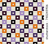 seamless pattern in halloween... | Shutterstock .eps vector #740245906