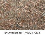 stones background  gravel... | Shutterstock . vector #740247316