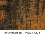 rusty metal texture  old pain... | Shutterstock . vector #740247376