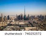 dubai skyline. futuristic... | Shutterstock . vector #740252572
