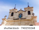 benedictine monastery and abbey ... | Shutterstock . vector #740253268