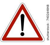 warning caution sign | Shutterstock .eps vector #740264848