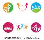 community care logo | Shutterstock .eps vector #740270212