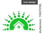 solar energy house icon | Shutterstock .eps vector #740270782