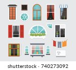 different interior windows of... | Shutterstock .eps vector #740273092