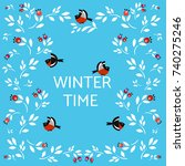 winter time background with... | Shutterstock .eps vector #740275246