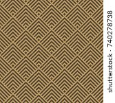 seamless kraft paper brown and... | Shutterstock .eps vector #740278738