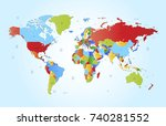 color world map | Shutterstock .eps vector #740281552