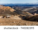 beautiful iceland landscape  ... | Shutterstock . vector #740282395