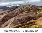 multicolored mountains of... | Shutterstock . vector #740283952