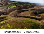 multicolored mountains of... | Shutterstock . vector #740283958
