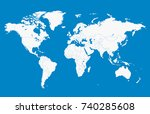 blue world map | Shutterstock .eps vector #740285608