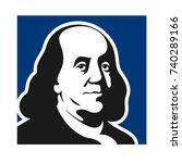 benjamin franklin vector logo. | Shutterstock .eps vector #740289166