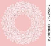 zenart round frame with pattern ... | Shutterstock .eps vector #740290042