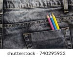 Black Denim Jeans With Stitche...
