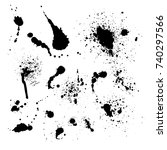 vector set of ink splashes