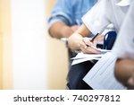 soft focus.high school or... | Shutterstock . vector #740297812