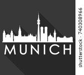 munich flat icon skyline...   Shutterstock .eps vector #740308966