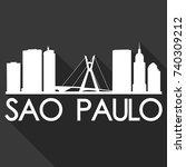 sao paulo flat icon skyline... | Shutterstock .eps vector #740309212