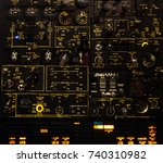 control levers and switches... | Shutterstock . vector #740310982
