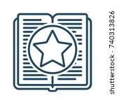 star inside book vector icon in ... | Shutterstock .eps vector #740313826