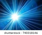 blue light shining from... | Shutterstock .eps vector #740318146