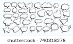 artistic collection of hand... | Shutterstock .eps vector #740318278