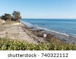 beautiful pacific ocean... | Shutterstock . vector #740322112