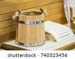 traditional wooden sauna for