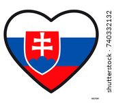 flag of slovakia in the shape...   Shutterstock .eps vector #740332132