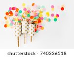 confetti shots out | Shutterstock . vector #740336518