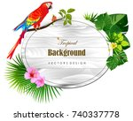 tropical island circlet of... | Shutterstock .eps vector #740337778