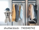 modern style wardrobe with... | Shutterstock . vector #740340742