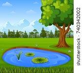 vector illustration of... | Shutterstock .eps vector #740342002