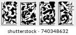 cards template. modern... | Shutterstock .eps vector #740348632