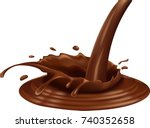 chocolate splash isolated on... | Shutterstock .eps vector #740352658