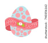 happy easter greeting card....   Shutterstock . vector #740356162