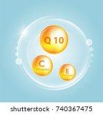 serum and vitamin background... | Shutterstock .eps vector #740367475