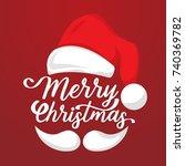 christmas background vector... | Shutterstock .eps vector #740369782