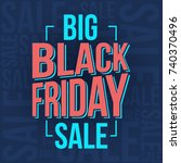 abstract vector black friday... | Shutterstock .eps vector #740370496