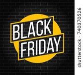 abstract vector black friday... | Shutterstock .eps vector #740370526