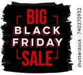 abstract vector black friday... | Shutterstock .eps vector #740370952
