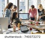 brainstorming  | Shutterstock . vector #740372272