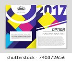 abstract vector layout... | Shutterstock .eps vector #740372656