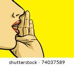 hand gesture of pop art woman... | Shutterstock .eps vector #74037589