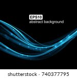 abstract light wave futuristic...   Shutterstock .eps vector #740377795