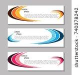 vector abstract design banner... | Shutterstock .eps vector #740378242
