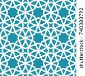 arabic geometric seamless... | Shutterstock .eps vector #740383792