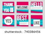 abstract vector layout... | Shutterstock .eps vector #740386456